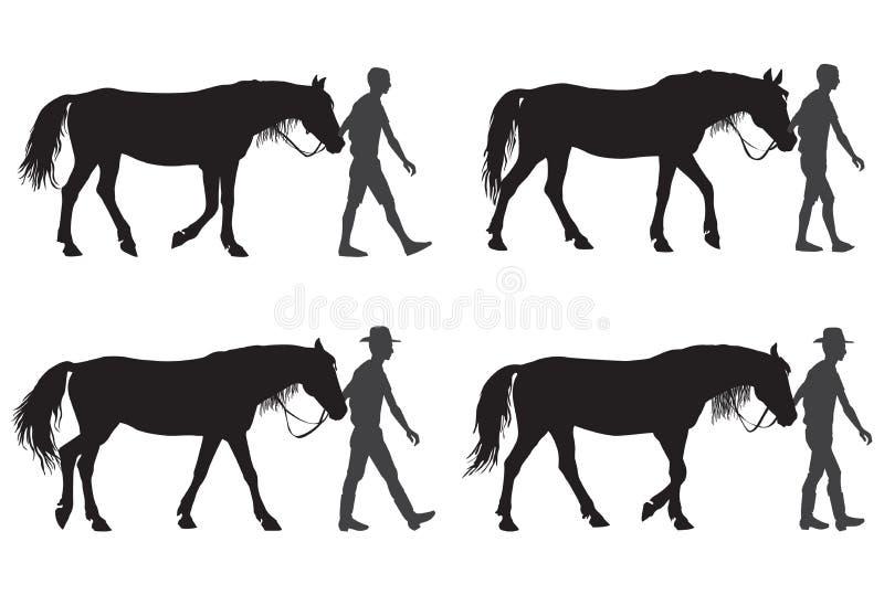 Un uomo con un cavallo