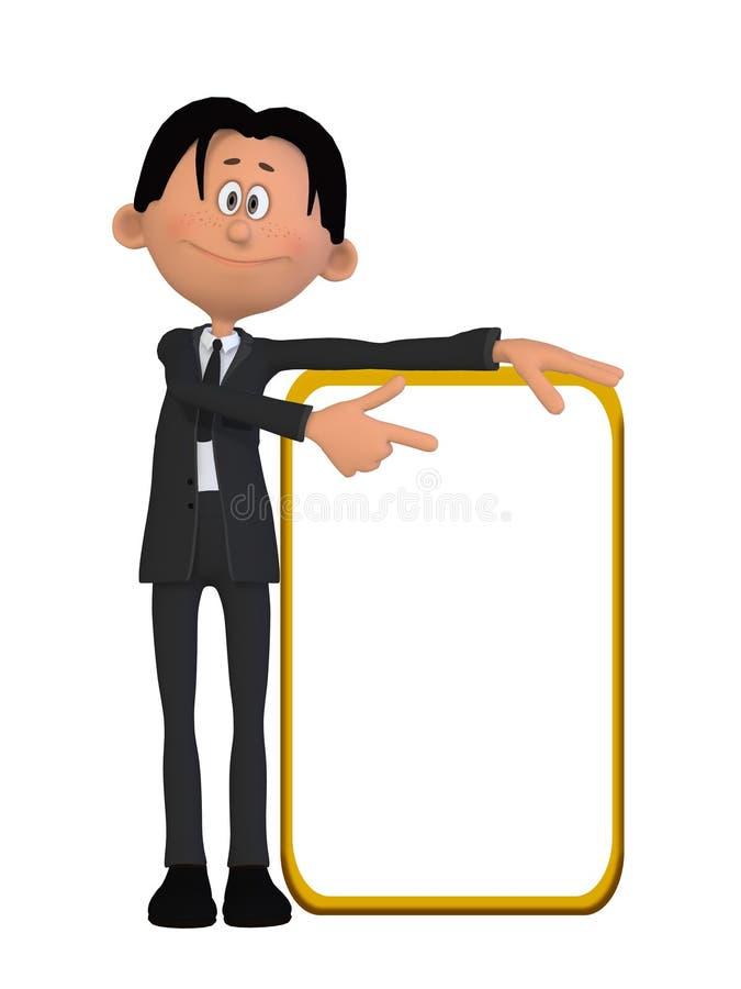 Un uomo d'affari con un bordo illustrazione vettoriale