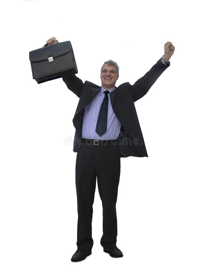 Un uomo d'affari felice fotografia stock libera da diritti