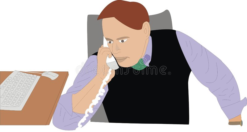 Un uomo d'affari riceve una chiamata immagine stock libera da diritti