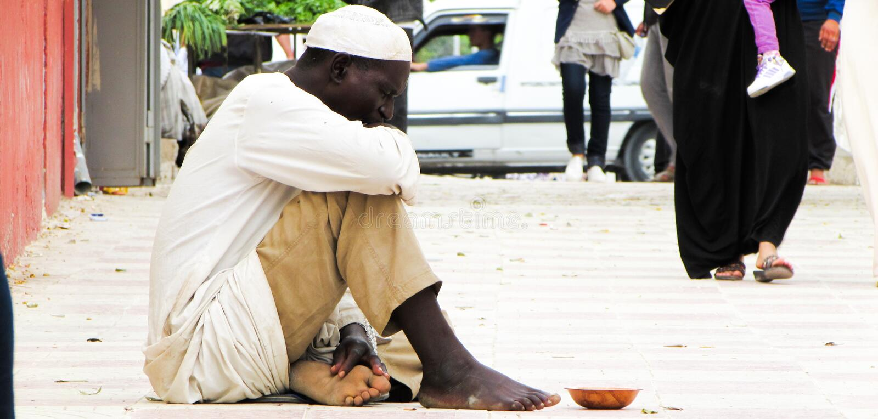 un uomo del mendicante fotografia stock libera da diritti