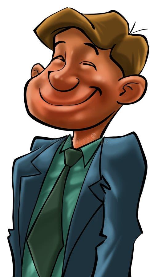 Un uomo felice di affari illustrazione vettoriale