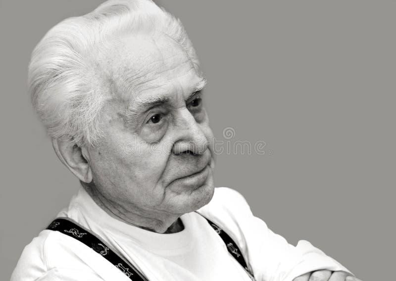 Un uomo molto anziano fotografia stock libera da diritti