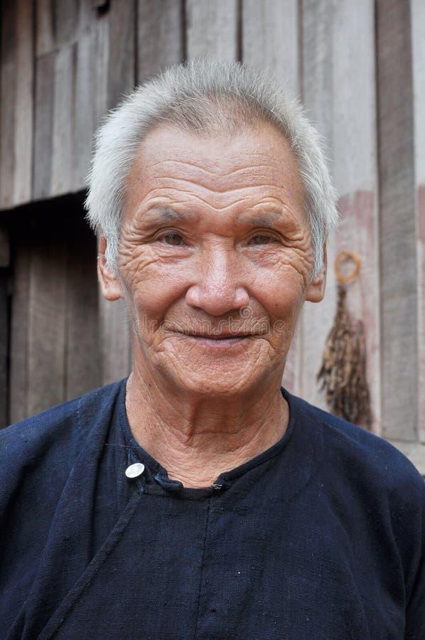 Un uomo senior di Lantaen fotografia stock libera da diritti