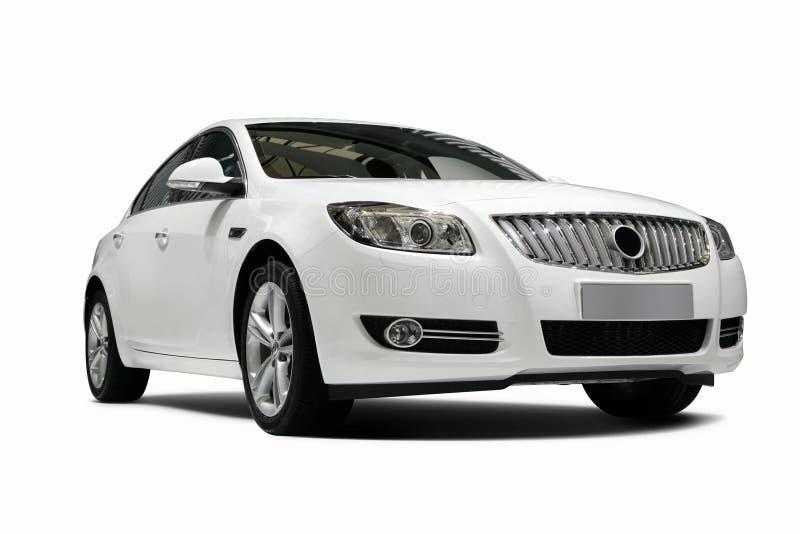 Un véhicule statique blanc indépendant à l'arrière-plan blanc photos stock