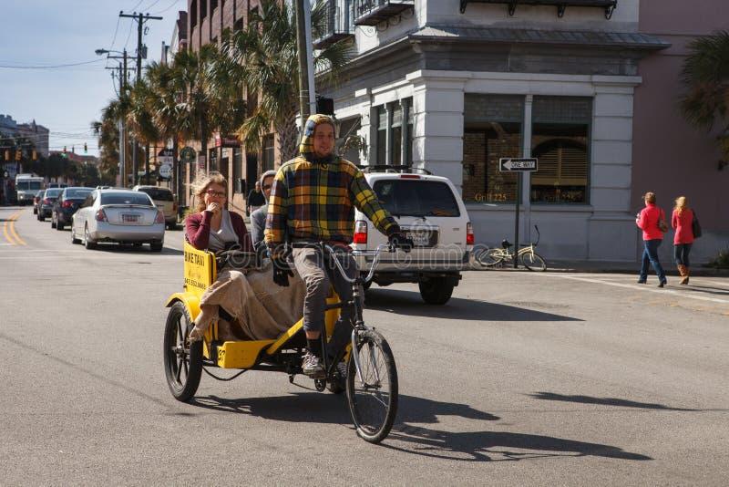 Taxi Charleston la Caroline du Sud de vélo de pousse-pousse photos libres de droits