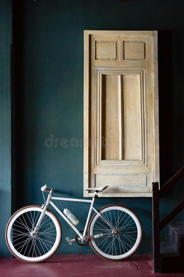 Un vélo fixe de vitesse photo libre de droits