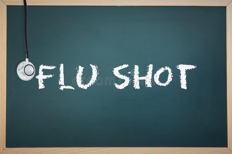 Un vaccin contre la grippe contre le tableau illustration libre de droits