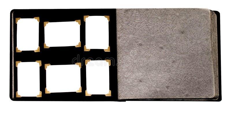 Un vecchio album per ritagli di Haloween isolato fotografie stock libere da diritti