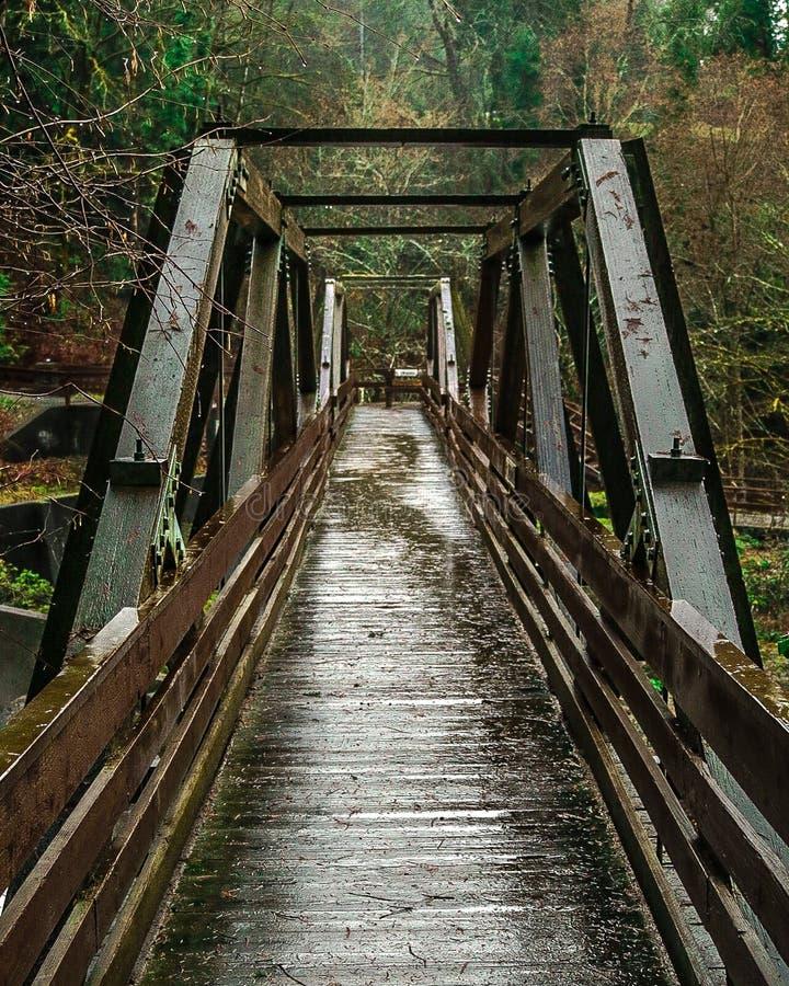 Un vecchio ponte lungo il percorso immagini stock