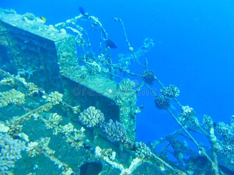 un vecchio relitto della nave subacqueo immagine stock libera da diritti