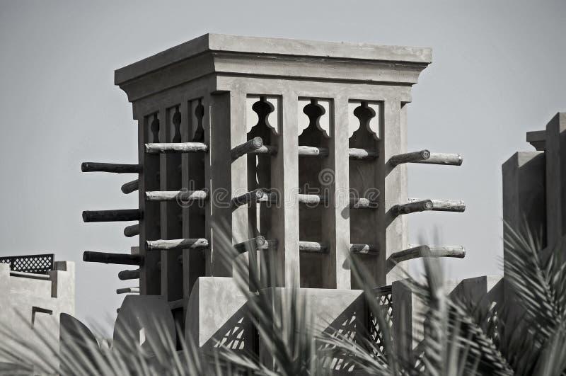 Un vecchio Windtower in Doubai immagine stock