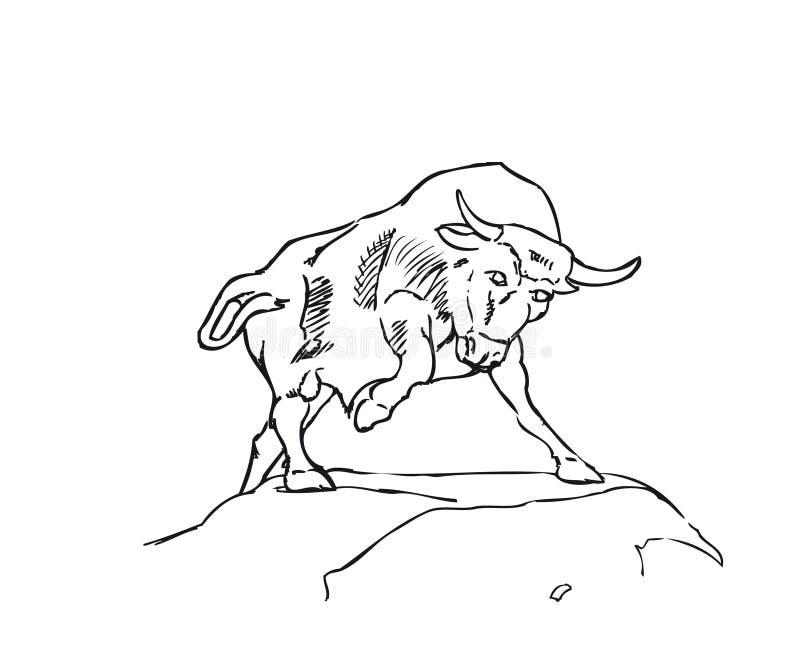 Un vecteur Bull image stock