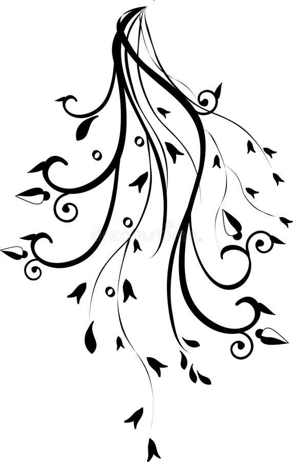 Un vecteur floral. illustration libre de droits