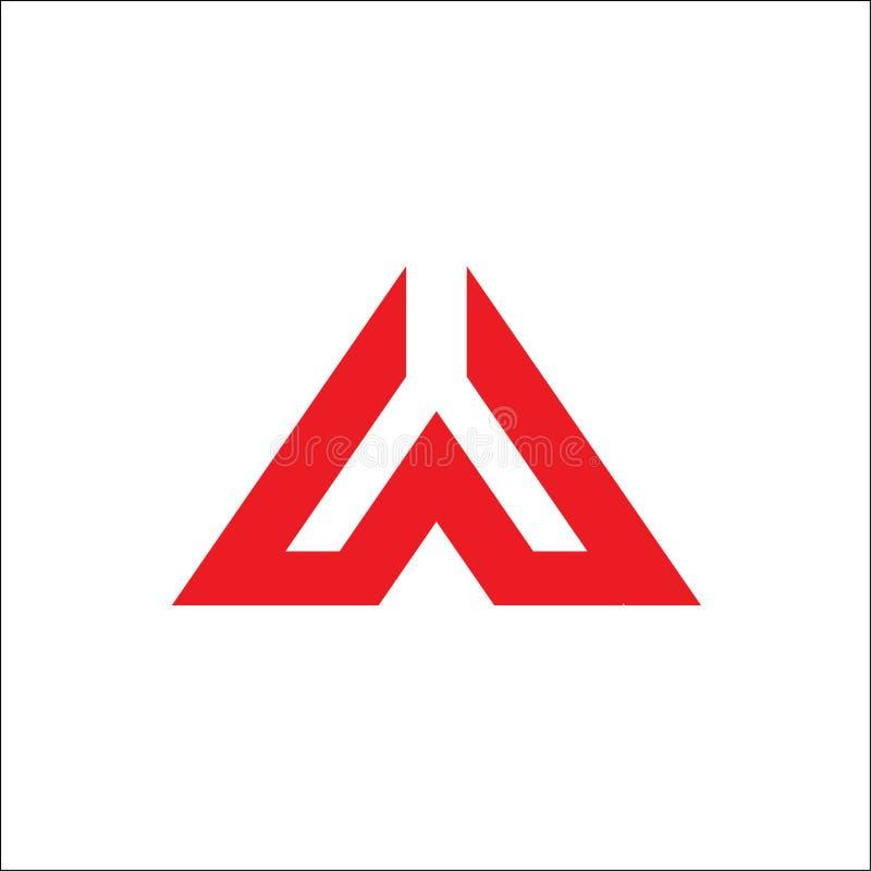 Un vecteur initial de logo de triangle illustration libre de droits