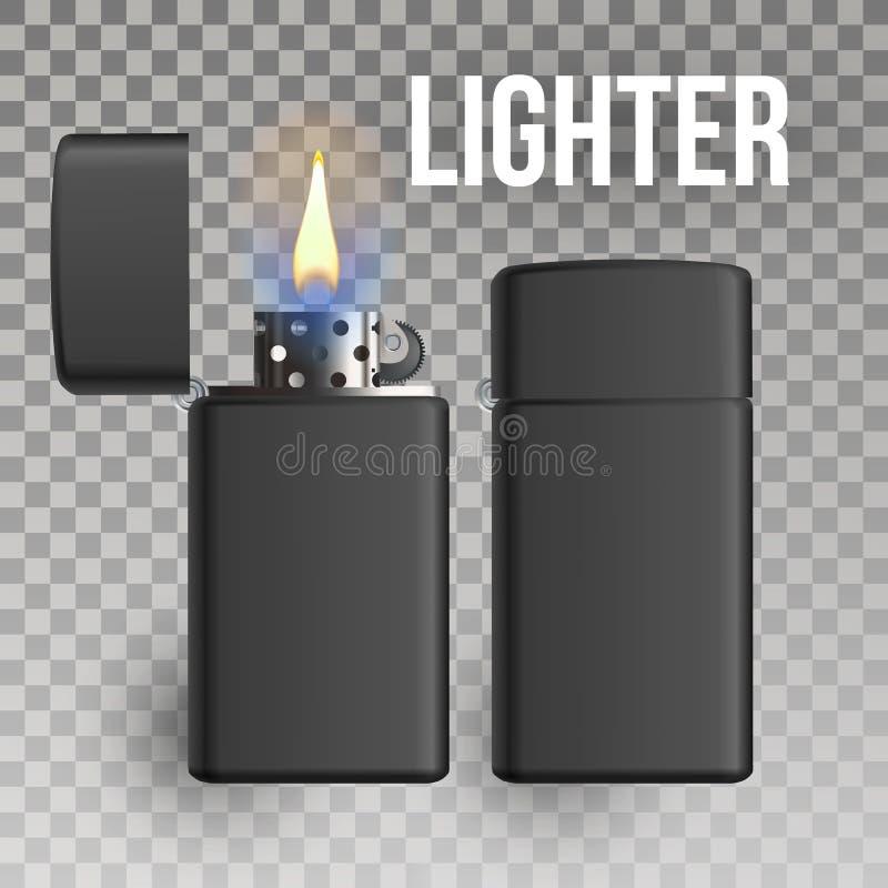 Un vecteur plus léger Objet de brûlure brûlure une icône plus légère en métal 3D réaliste Illustration illustration libre de droits