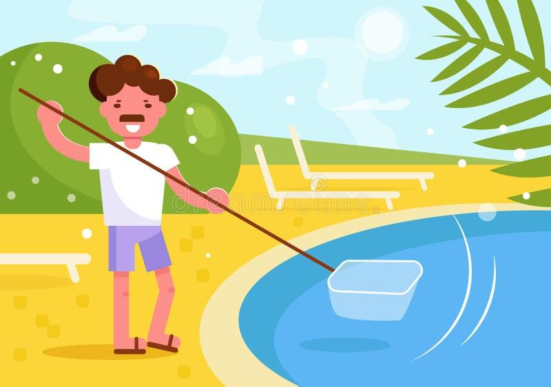 Un vecteur plus propre de piscine cartoon Appartement d'isolement d'art illustration de vecteur