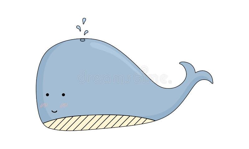 Un vecteur timide mignon de baleine photographie stock