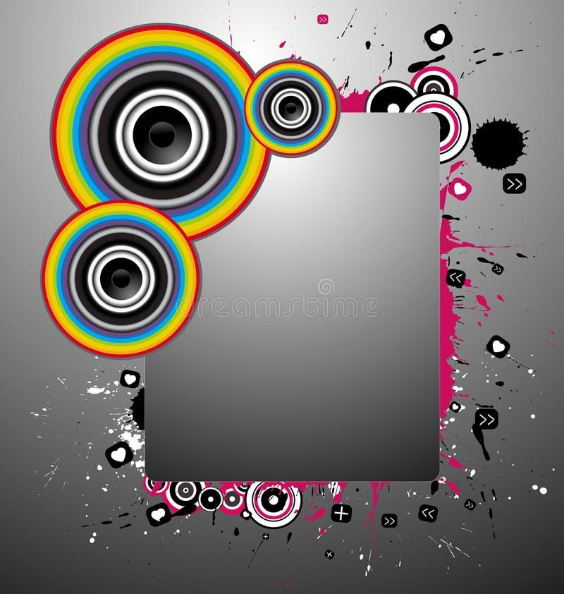 Un vector abstracto de la bandera de la música stock de ilustración