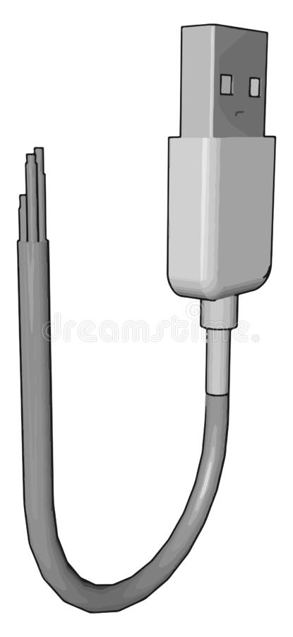 Un vector de bus serie universal o una ilustración de color ilustración del vector