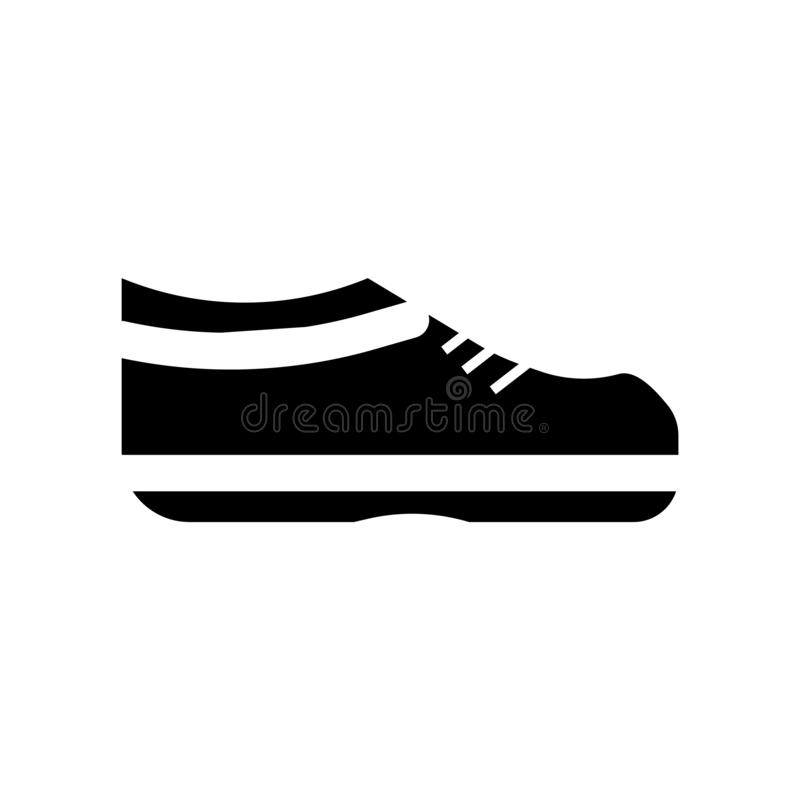Un vector del icono del zapato aislado en el fondo blanco, una muestra del zapato, símbolos de la construcción ilustración del vector