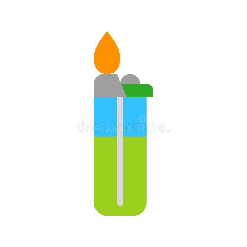 Un vector más ligero, icono plano relacionado del estilo de la barbacoa libre illustration