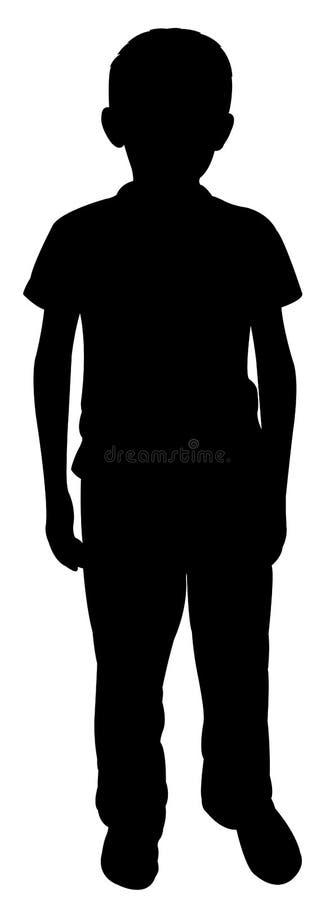 Un vector pobre de la silueta del cuerpo libre illustration