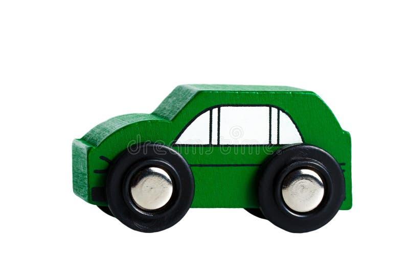 Un verde di legno dell'automobile della jeep del piccolo simplle fotografia stock