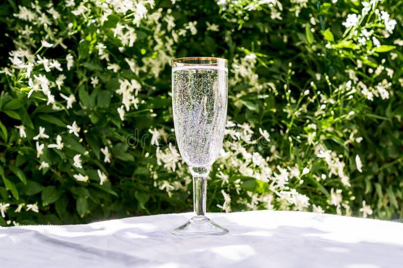 Champagne et fleurs photo stock image du objet gourmet - Place du verre a eau sur une table ...