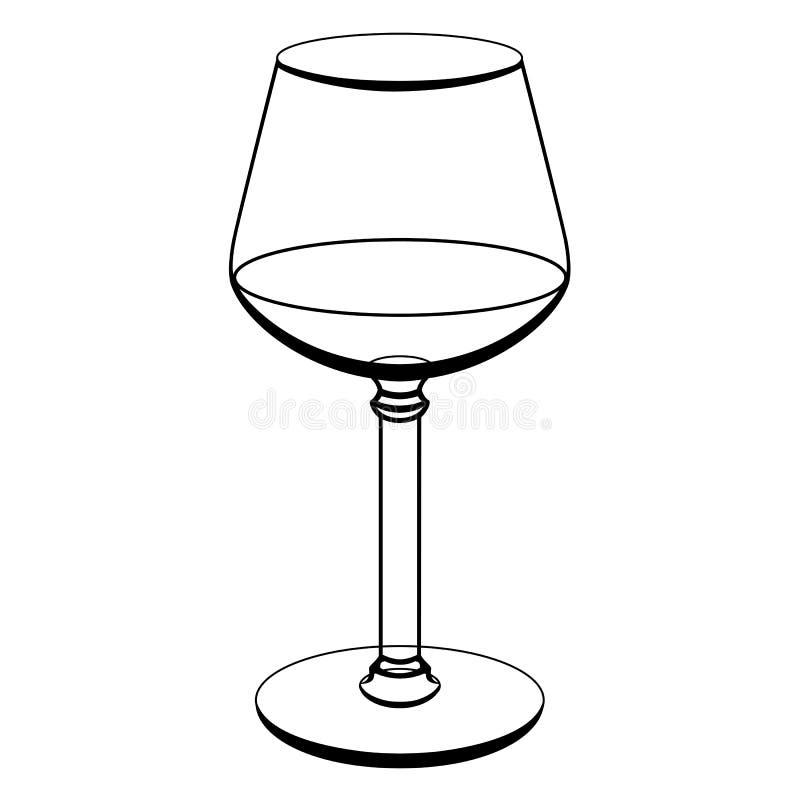 un verre pour le vin dessin de découpe Vecteur Illustratio illustration stock