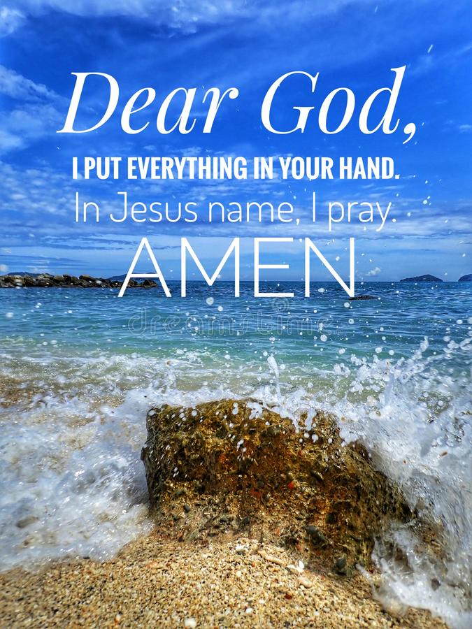 Un verso diario de la biblia para la palabra de dios para el estímulo, la paz y la curación en hoy foto de archivo libre de regalías