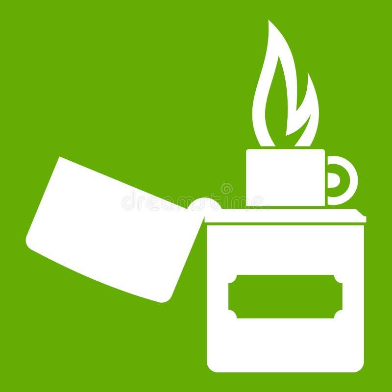 Un vert plus léger d'icône illustration de vecteur