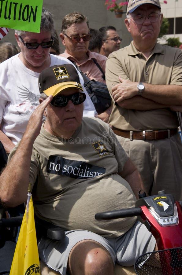 Un veterano saluda imágenes de archivo libres de regalías