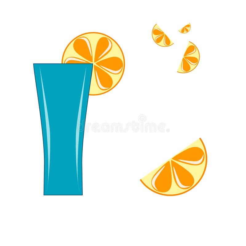 Un vetro con le fette del limone fotografie stock