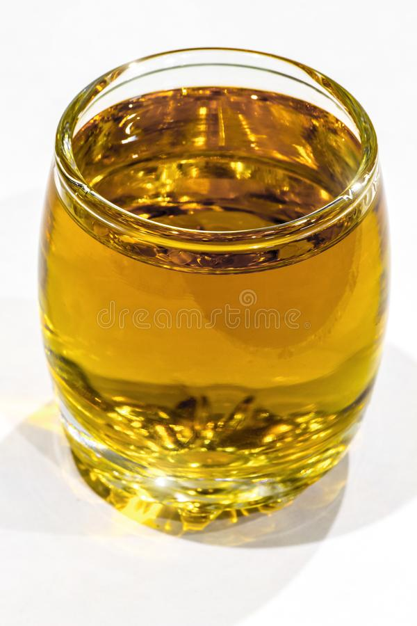 Un vetro del cognac fotografia stock