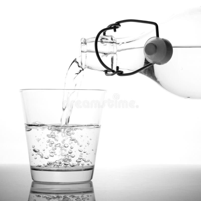 Un vetro di acqua fotografia stock libera da diritti
