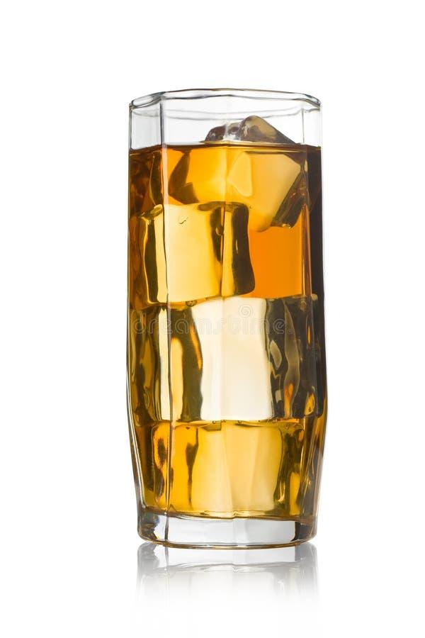 Un vetro di ghiaccio immagine stock