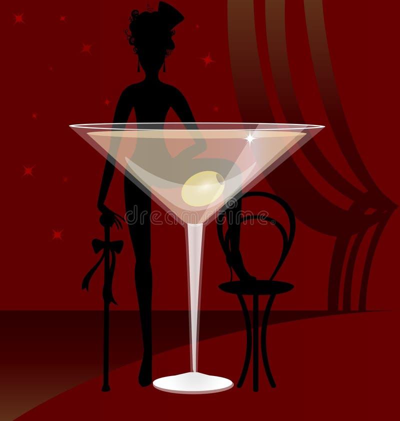 Un vetro di vermut illustrazione di stock