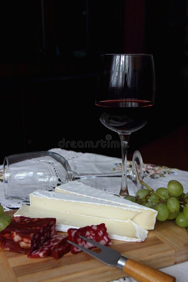 Un vetro di vino rosso fotografia stock libera da diritti