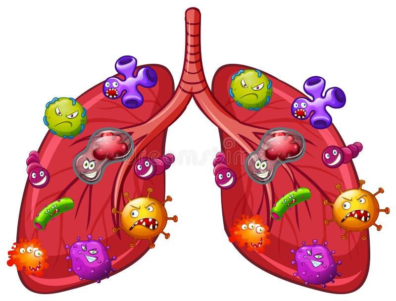 Un vettore di Lung Bacteria illustrazione vettoriale