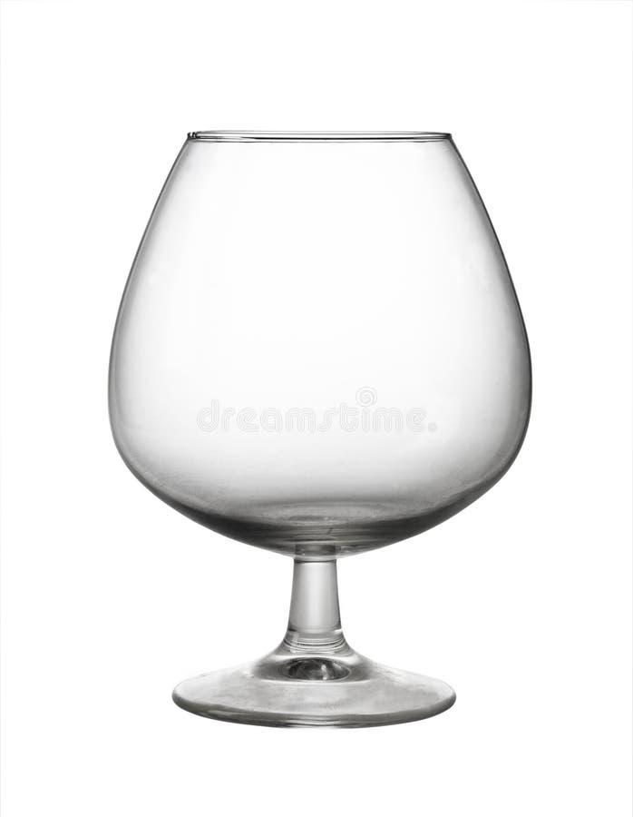 Un vidrio de brandy vacío imágenes de archivo libres de regalías