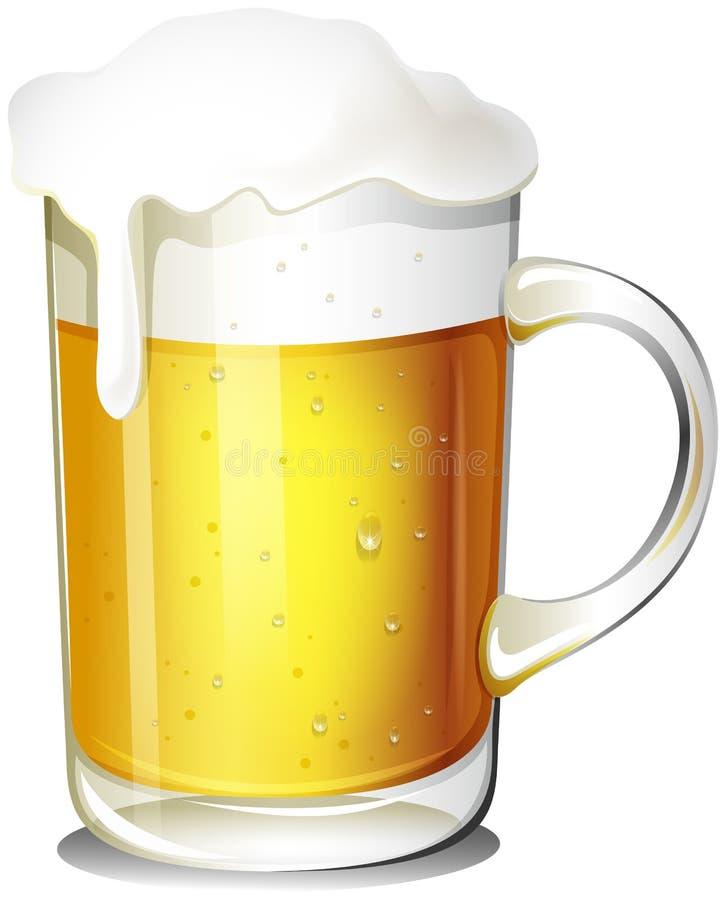 Un vidrio de cerveza fría ilustración del vector