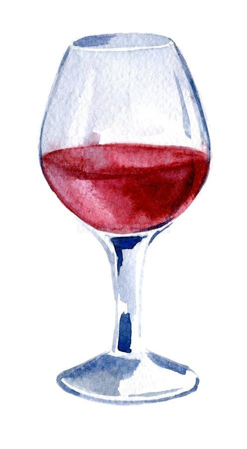 Un vidrio de vino rojo watercolor Mano dibujada, ejemplo de la ISO libre illustration