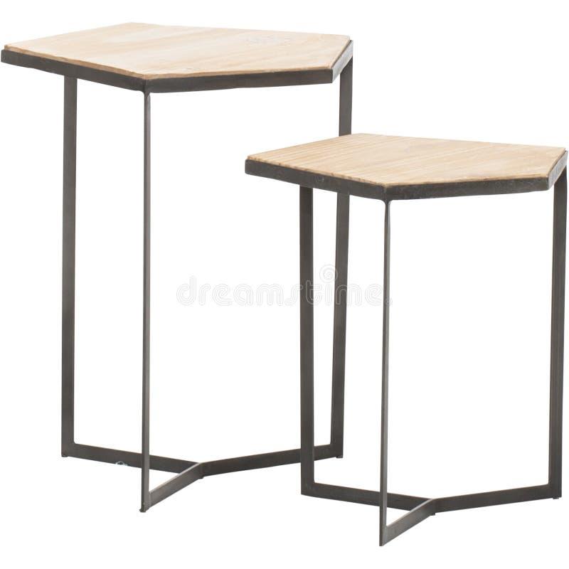 Un vidrio del vintage y una mesa de centro redondos del plexigl?s, mesa de centro blanca con el top de cristal, mesa de centro de imagen de archivo