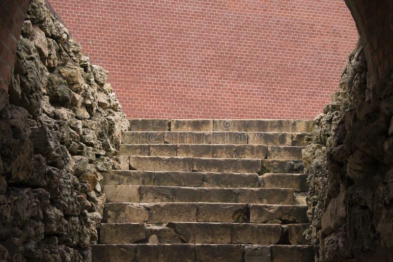 Un vieil escalier en pierre dans Alexander Garden près de Moscou Kremlin photographie stock