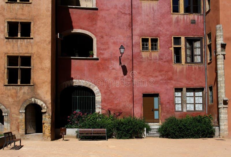 Un vieux district de Lyon photo stock