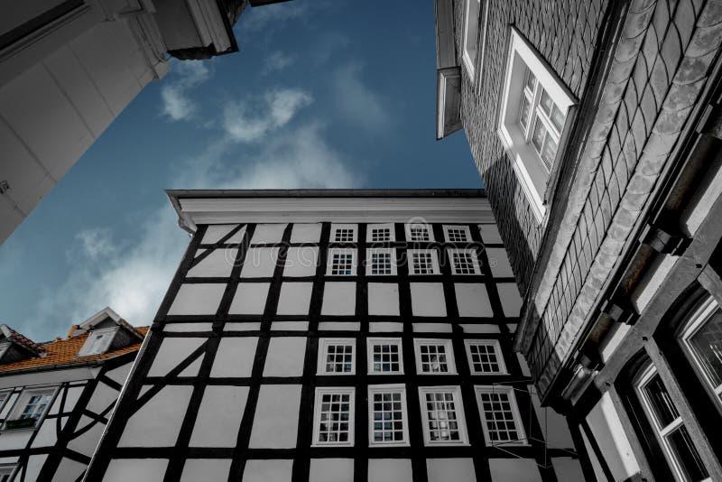 Un vieux Framehouse en l'Allemagne/Hattingen photos libres de droits