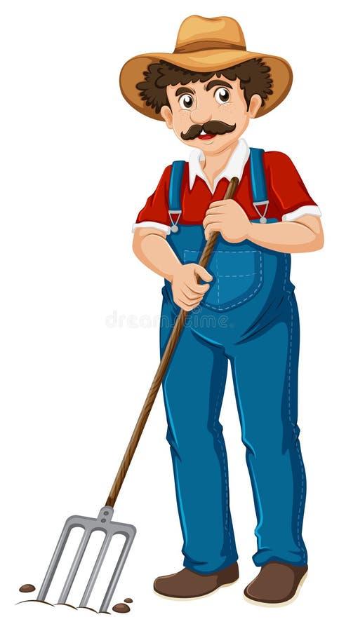 Un vieux jardinier illustration de vecteur