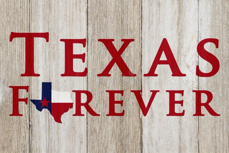Un vieux message rustique de Texas Forever images stock