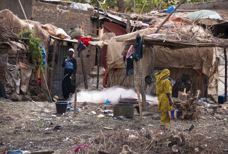 Un village de Bozo en dehors de Bamako images libres de droits